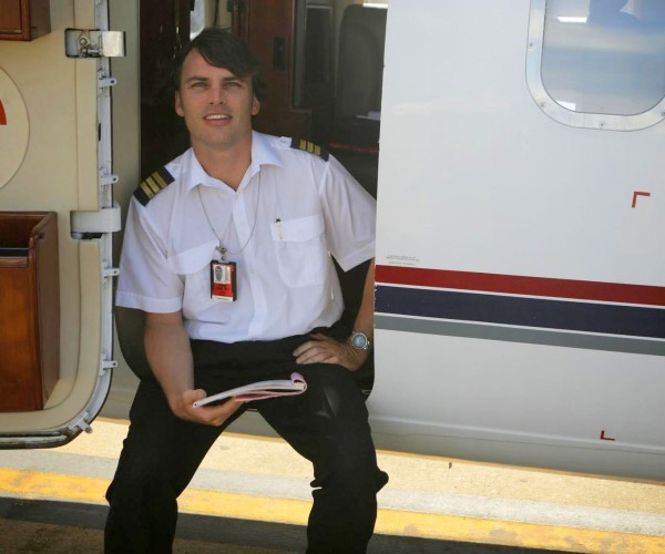 Dom James in a PelAir Westwind jet-001