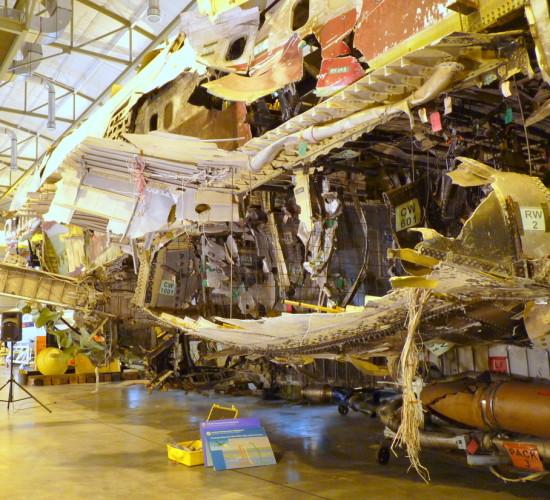 TWA Flight 800 mock up at Ashburn, VA