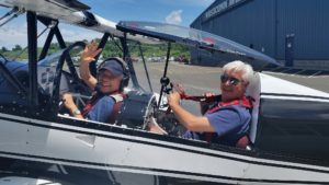 Takeo goes flying with David Paqua