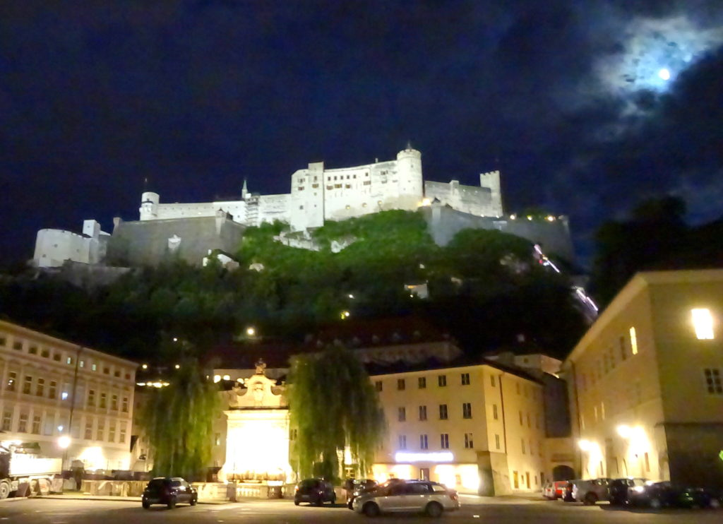 Hohensalzburg Castle after the concert