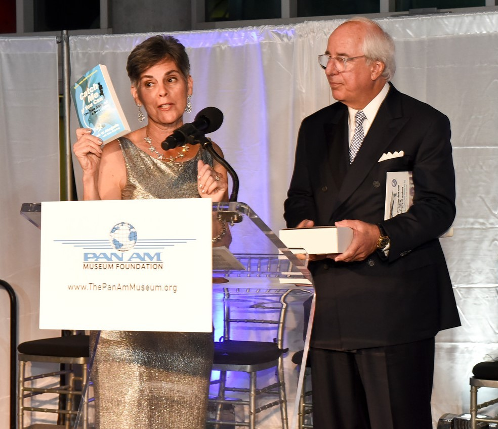 Pan Am gala Abagnale Negroni and book