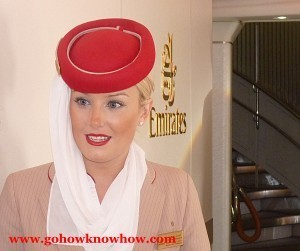 Kimberly works for Emirates