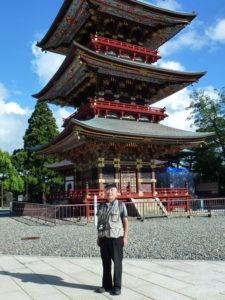 Takeo Aizawa at Narita San pagoda
