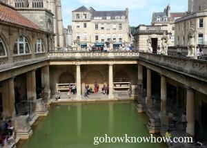 The Roman Baths of Somerset County, England