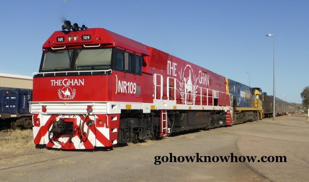 The Ghan stopped in Alice Springs