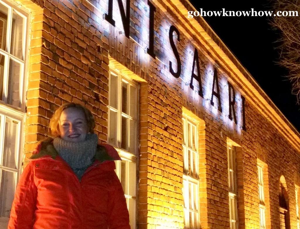 Nelly Karkkainen at her restaurant and sauna