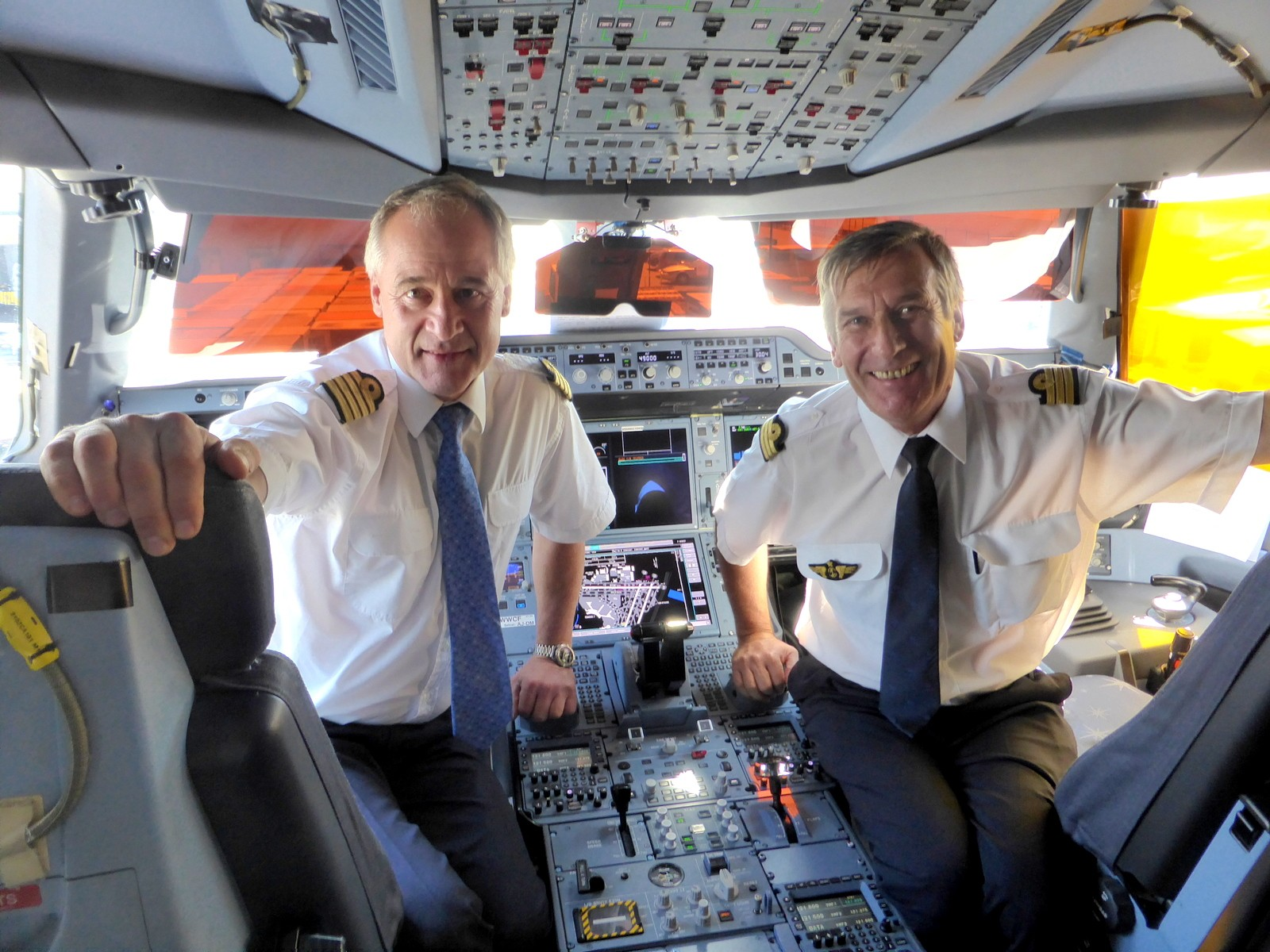Frank Chapman (L) and Bruno Brigande, Airbus