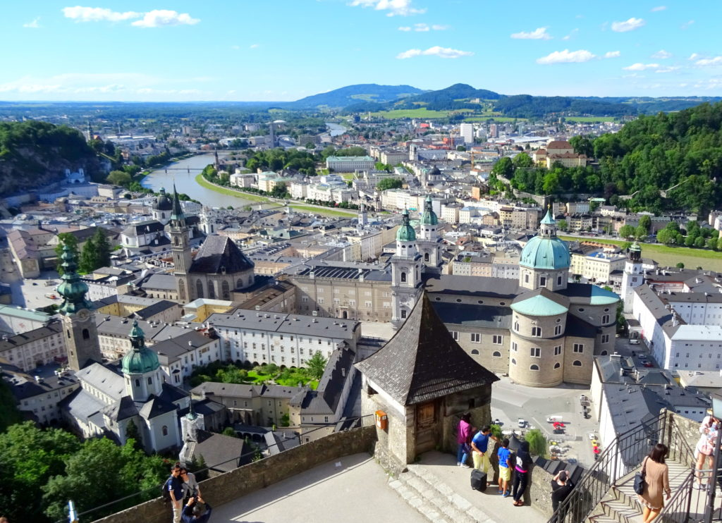 View of Salzburg from the Hohensalzburg Castle